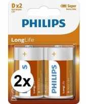 Camping phillips ll batterijen pakket r20 1 5 volt 4 stuks kopen