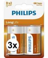 Camping phillips ll batterijen pakket r20 1 5 volt 6 stuks kopen