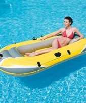 Camping rubber opblaasboot geel 228 cm kopen