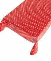 Camping tafelzeil polkadot rood 140 x 240 cm kopen