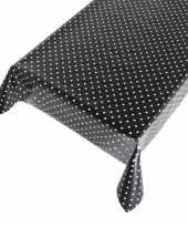 Camping tafelzeil polkadot zwart 140 x 170 cm kopen