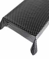 Camping tafelzeil polkadot zwart 140 x 240 cm kopen